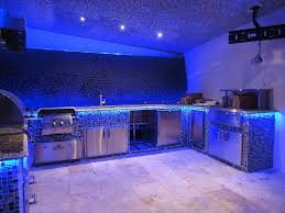 Kitchen Theme Ideas Blue by Kitchen Great Kitchen Decoration With Blue Led Lighting Strips