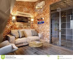 100 Urban Loft Interior Design Stock Illustrations 6463 Stock