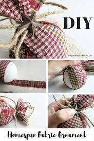 DIY Homespun Primitive Fabric Christmas Ornaments