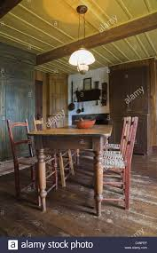 Antique Dining Table And Chairs In 19th Century Home Quebec Canada