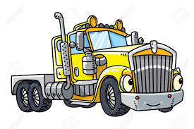 Funny Heavy Truck With Eyes Royalty Free Cliparts, Vectors, And ...