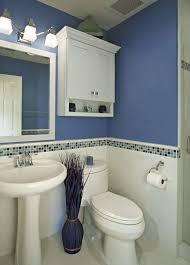 Half Bathroom Ideas With Pedestal Sink by Bathroom Mosaic Backsplash Tile Idea Feat Stylish Blue Bathroom