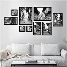 jxjjd a set of 9 photo frames collage black and white