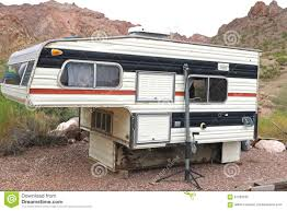 Old Camper For Pickup Truck Stock Image - Image Of Camper, Nevada ...