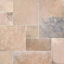 Versailles Tile Pattern Travertine by Odeon Tumbled French Pattern Patara Stone