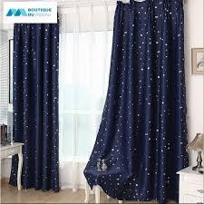 rideau garcon chambre rideau étoiles enfant étoile rideaux occultant bleu marine nuit