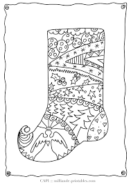Christmas Stocking To Color Free Printable Coloring Pages For Kids Detailed Adult