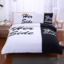 Her Side His Side Bedding Sets Twin Full Queen King Size Couple