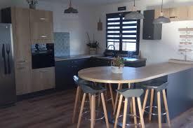 cuisine avec coin repas réalisations cuisine moderne avec coin repas de cuisines avec socoo c