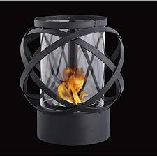 jhy design runder tisch tischkamin mit glas bioethanol feuerstelle 24cm hoch tragbarer tisch kamin feuertisch outdoor bio ethanol kamin tischfeuer für