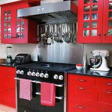 Red Small Kitchen Decor Mod
