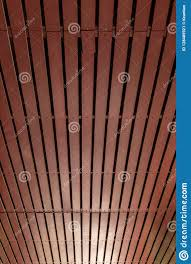 100 Wooden Ceiling Brown Background With Light Stock Image