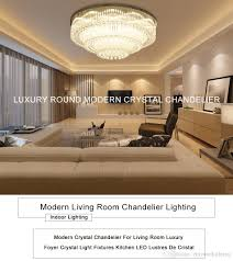 Luxurious Modern Crystal Chandelier Round High End K9 Ceiling Light Fixtures For Living Room