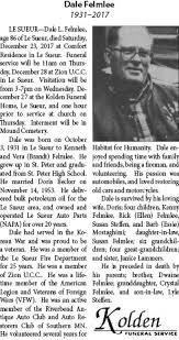 Obituary for Dale Felmlee