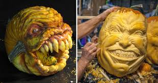 Panda Pumpkin Designs by This Guy Makes The Scariest Pumpkin Carvings Ever Bored Panda