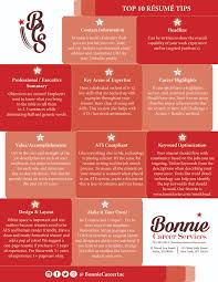 Top 10 Resume Tips — Bonnie Career Services, Inc. - Certified Resume ... Resume Writing Common Questioanswers Work Advice You Can Use Today Should Write A Functional Blog Blue Sky Rumes Rsum Want To Change Your Job In 2019 Heres What Current Trends 21400 Commtyuonism 15 Quick Tips For What Realty Executives Mi Invoice And Include Your Date Of Birth On Arielle Executive Hot For Including Photo On Ping A Better Interview Benefits How Many Guidelines Writing Great Resume Things That Make Me Laugh