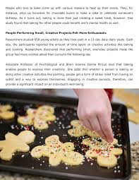 Baking For Others Can Be Beneficial Ones Mental Health Pages 1