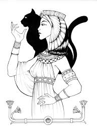 Egyptian New Empire Queen By Shyangell On DeviantART Egypt CraftsAdult Coloring PagesColoring BooksEgyptian