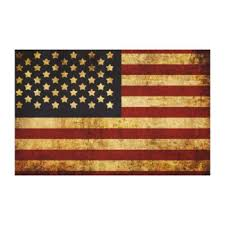 Distressed American Flag Art & Framed Artwork