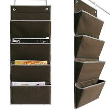 Daily Desk File Sorter Oxford by Microtimes Wall Mount Over The Door Oxford Fabric Collapsible
