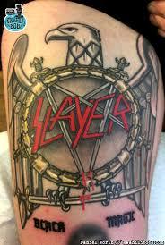 Slayer Tattoos Wenn Es Blut Regnet Und Erwachsene Männer Weinen Spirit