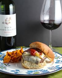 bordeaux cuisine gruyere burger and a bordeaux for winepw cooking