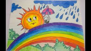 How To Draw Monsoon Drawing
