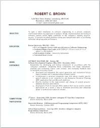 Great Resume Examples Example Resumes Of A For