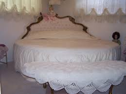 I beautiful round french bed w castel head board and match