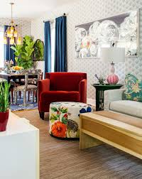 View In Gallery Stunning Contemporary Living Room Epitomizes The Colors And Exuberance Of Spring From Sean Litchfield