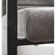 esszimmerstuhl earnest quersteppung grau vintage gestell metall schwarz freischwinger