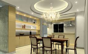 Modern POP Ceiling Dining Room Design Ideas