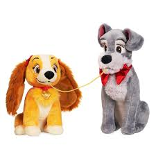 Disney Lady And The Tramp Plush Set Valentines Day Small Toy New