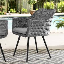 Modway Endeavor Outdoor Patio Wicker Rattan Dining Armchair Modway Endeavor Outdoor Patio Wicker Rattan Ding Armchair Hospality Kenya Chair In Black Desk Chairs Byron Setting Aura Fniture Excellent For Any Rooms Bar Harbor Arm Model Bhscwa From Spice Island Kubu Set Of 2 Hot Item Hotel Home Office Modern Garden J5881 Dark Leg