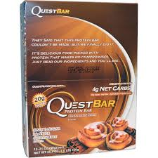 Quest Nutrition QuestBar Protein Bar Cinnamon Roll 12 Bars 21 Oz