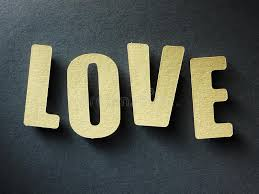 The Word Love Paper Background Stock Image Image of words