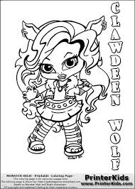 Printable Games Monster High Baby Coloring Pages 15