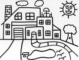 dessin de coloriage maison à imprimer cp16919
