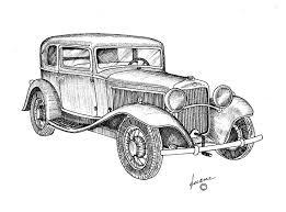 B78974ab0f6a7920f6cc8ee85248fc87 Ink Drawings Vintage Cars 736x545