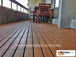 Balcony Flooring Plastic Rubber WPC Deck Tiles