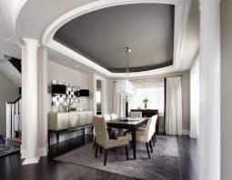 Contemporary Dining Room Custom Drapery On Chrome Hardware Courtsey Of Houzz