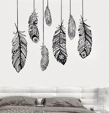 pochoir mural chambre ethniques amour plume romantique chambre wall decal sticker