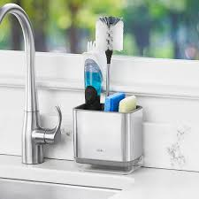 oxo stainless steel sink caddy the container store