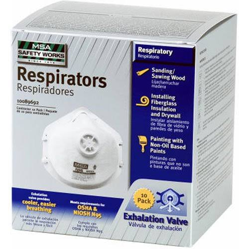 Msa Safety Works N95 Dust Respirator