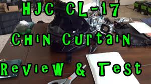 hjc 17 chin curtain review and test results you decide which is