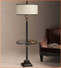 Wood End Table With Lamp Attached by Floor Lamp With Table Clubnoma Com