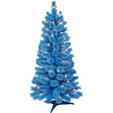 Holilday Time Pre Lit 35 Cashmere Artificial Christmas Tree Blue Clear Lights