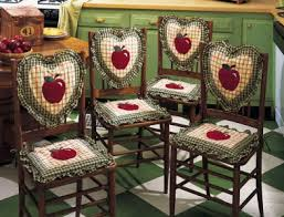 Apple Kitchen Decor Chair Seat Back Cushions 8 PC Set