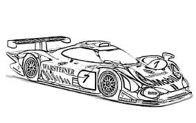 Race Car Coloring Pages Sheets