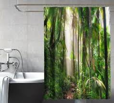 details zu 3d dschungel 24 duschvorhang wasserdicht faser bad daheim windows toilette de